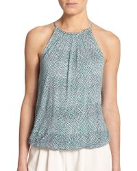 Joie Carlyle Printed Tank - Lyst