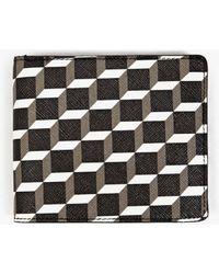 Pierre Hardy   Black Perspective Cube Print Wallet   Lyst
