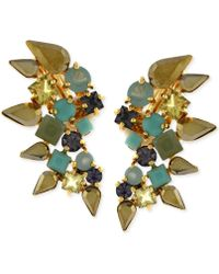 Vince Camuto - Gold-Tone Multicolour Clip-On Earrings - Lyst