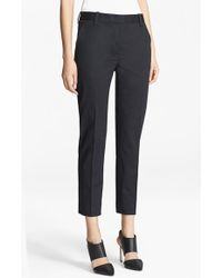 3.1 Phillip Lim Crop Stretch Cotton Pencil Trousers - Lyst
