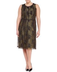 Issa Gold Lace Dress In Gold Lyst