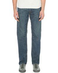 Diesel Waykee Straight Mid-rise Denim Jeans Blue - Lyst