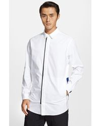 Alexander Wang Men'S Trim Fit Sweater Back Oxford Shirt - Lyst