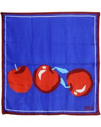 Sonia By Sonia Rykiel Apple Printed Silk Twill Scarf - Lyst