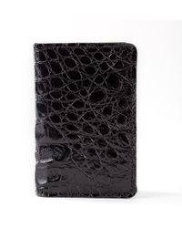 Anne Sisteron - Crocodile Card Holder - Black - Lyst