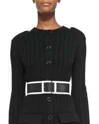 Derek Lam | Wide Leather Belt with Contrast Trim | Lyst