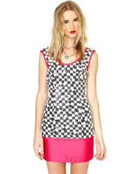 Nasty Gal Tadashi Check On It Sequin Dress - Lyst