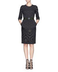 Preen Nelly Geometric Print Crepe Sheath Dress - Lyst