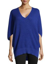 Natori Textured Silk-Blend Sweater - Lyst