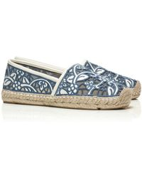Tory Burch Lucia Lace Espadrille - Lyst