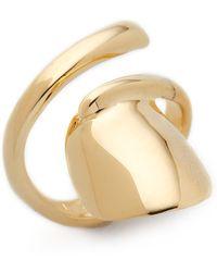Bijules - Short Nail Ring - Gold - Lyst