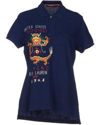 Ralph Lauren Blue Polo Shirt - Lyst