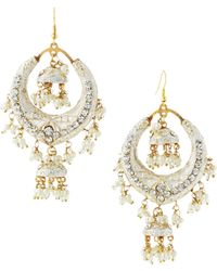 Chamak by Priya Kakkar - Half-moon Station Drop Earrings - Lyst
