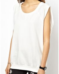 Asos Sleeveless Sweatshirt with Raw Edge - Lyst