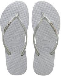 Havaianas - Slim Logo Metallic Flip Flop Sandals - Lyst
