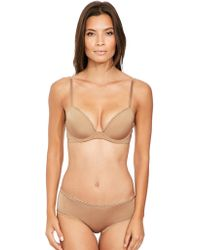 f85a83ee2d Calvin Klein Infinite Lace Customized Lift Bra in Pink - Lyst