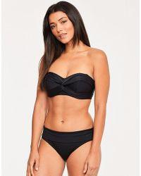 68d4856e99f Figleaves Rene Black Underwired Crop Bikini Top D-g Cup in Black - Lyst