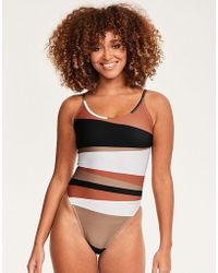 Calvin Klein - Core Neo Scooped One Piece Swimsuit - Lyst