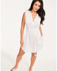 139c37d1213 Caroline Constas Boyfriend Shirtdress - Solid White in White - Lyst