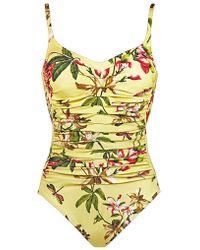 Maryan Mehlhorn - Fleuri Floral Underwired Swimsuit - Lyst