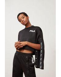 Fila - Aurora Flared Crop Sweatshirt - Lyst