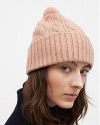 Filippa K - Braided Hat Blush Melange - Lyst