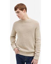 Filippa K - Honeycomb Knit Sweater Sand Paper - Lyst
