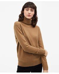 Filippa K - Cashmere Roller Neck Sweater Camel - Lyst