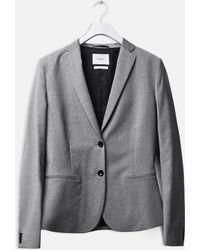 Filippa K - Jackie Cool Wool Jacket Light Grey - Lyst