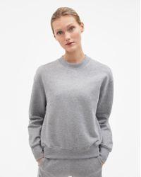 Filippa K - Classic Brushed Sweatshirt Grey Melange - Lyst