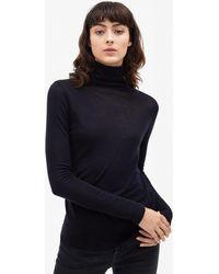 Filippa K - Merino Wool Roller Neck Navy - Lyst