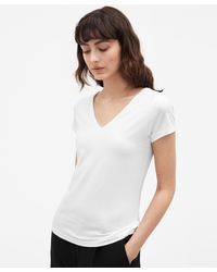 Filippa K - Fine Lycra V-neck Top White - Lyst