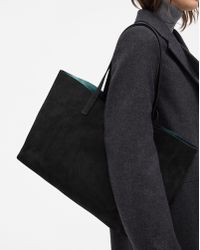 Filippa K - Faye Tote Leather Bag Black Suede - Lyst