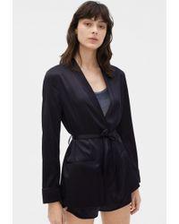 772e3c5c586512 Filippa K Satin Slip Dress Black in Black - Lyst