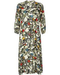 Finery London - Lola Printed Waist Tie Dress - Lyst