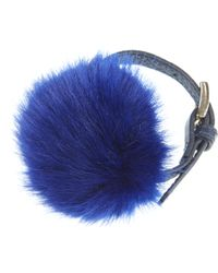 Finery London - Dimble Pom Pom Leather Bracelet - Lyst