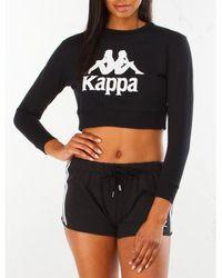 Kappa - Women Authentic Bamm Bamm Crewneck Sweatshirt, Black - Lyst