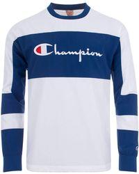 Champion - Colour Block Logo Sweatshirt - Lyst