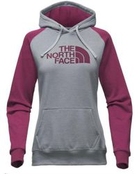 The North Face - Women Half Dome Hoodie, Medium Grey Heather/ Crushed Violets - Lyst