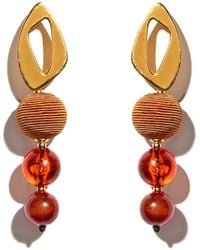 Lizzie Fortunato - Cosmic Amber Earrings - Lyst