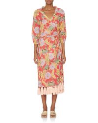 62c45864d19e Rhode Resort - Lena Longsleeve Tassel Wrap Dress - Lyst