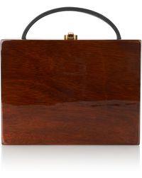 Rocio - Hanna Wood Box Bag - Lyst