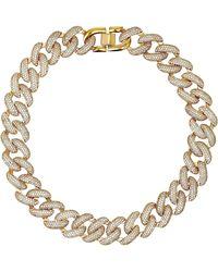 Fallon - Armure Pave Xl Curb Chain Collar - Lyst
