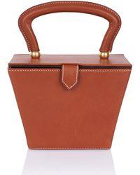 STAUD - Mini Sadie Leather Box Bag - Lyst