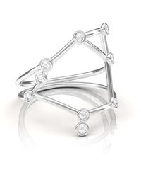 JESSIE V E - White Gold Libra Ring - Lyst