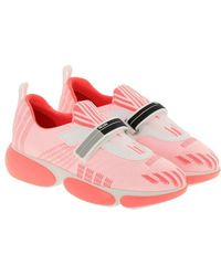 Prada - Clodbust Sneakers In Technical Fabric And Rubber With Maxi Sole And Buckle By - Lyst