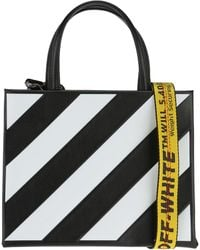 Off-White c o Virgil Abloh - Black And White Diagonal Tote Bag By e09ccc53a6f28