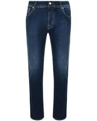 Jacob Cohen - Badge Slim Jeans - Lyst