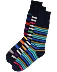 Paul Smith - Three Pack Striped Socks - Lyst