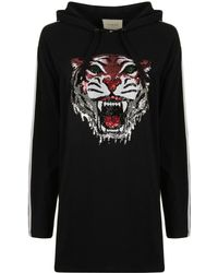 54bf45ad199 Gucci Black  blind For Love  Tiger Logo Hoodie in Black - Lyst